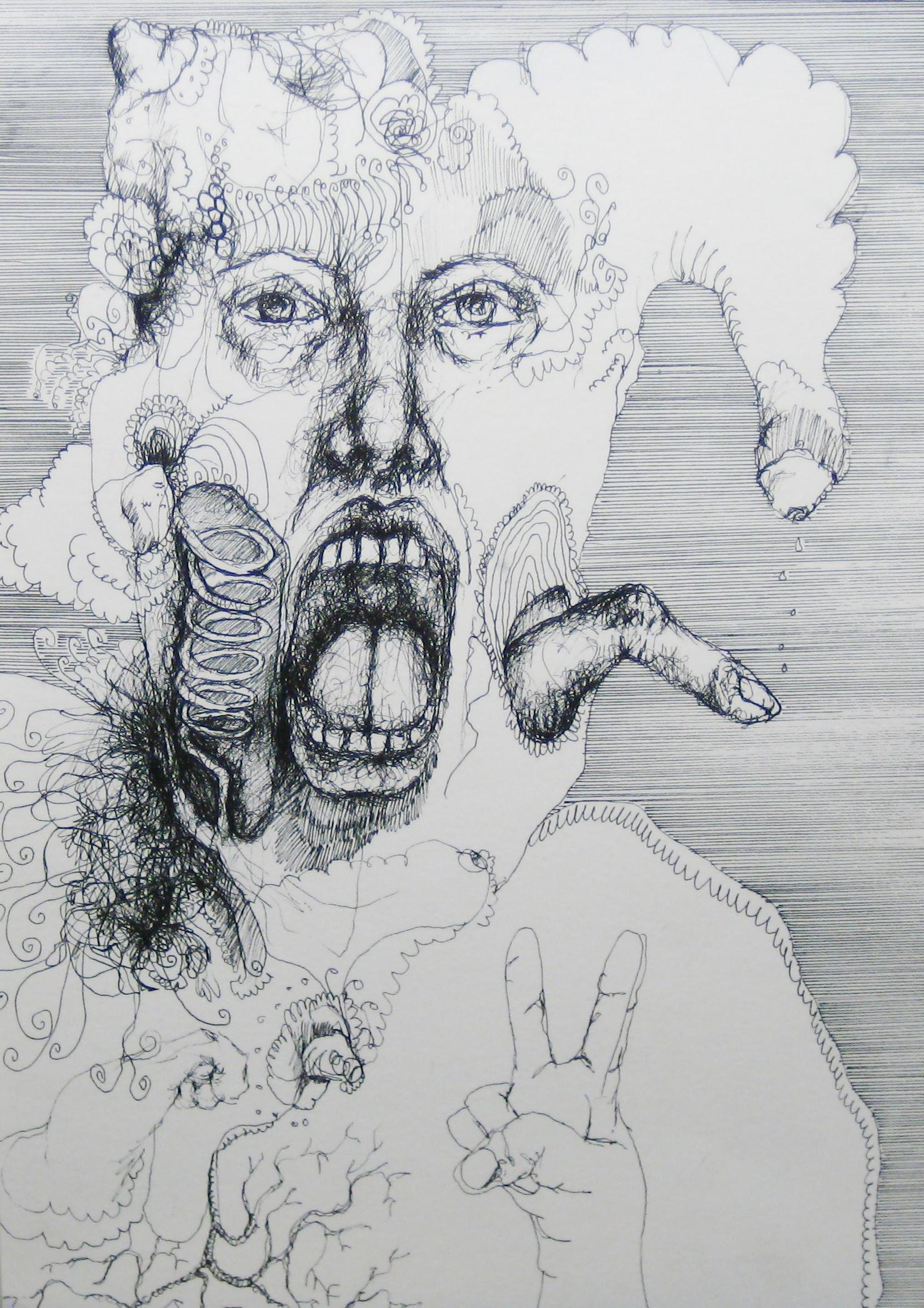 2011-Zeichnung-Emotion-24-finger-spirale-gesicht-Luisa-Pohlmann-Kunst-Berlin
