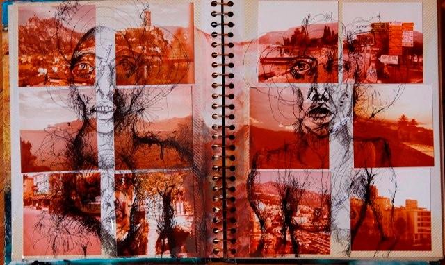 2011-Zeichnung-Emotion-27-buch-rot-Luisa-Pohlmann-Kunst-Berlin