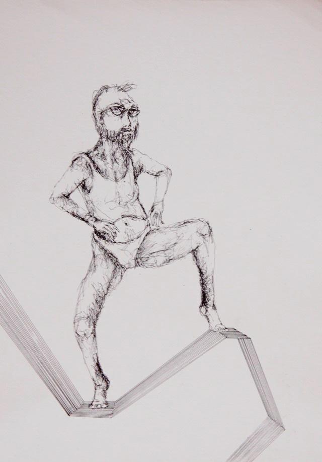 2011-Zeichnung-Emotion-4-Mann-tanzt-unterhose-Luisa-Pohlmann-Kunst-Berlin