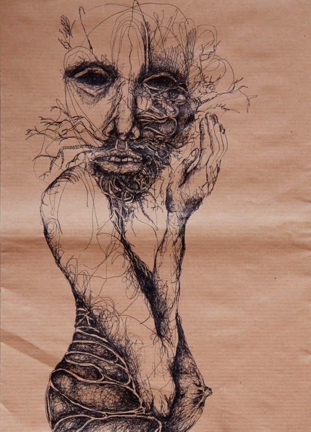 2011-Zeichnung-Emotion-5-schwanger-adern-Luisa-Pohlmann-Kunst-Berlin