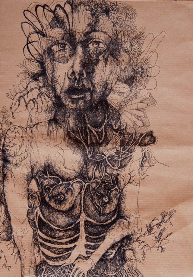 2011-Zeichnung-Emotion-6-skelett-brust-adern-Luisa-Pohlmann-Kunst-Berlin