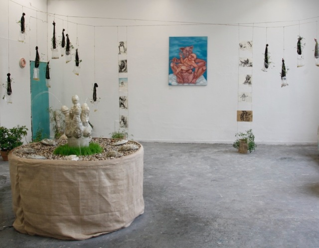 2012-Ausstellung-Sex-9-penisbrunnen-installation-schwein-Luisa-Pohlmann-Kunst-Berlin