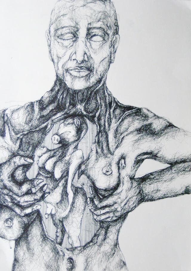 2012-Zeichnung-Sex-10-inneres-schwein-Luisa-Pohlmann-Kunst-Berlin