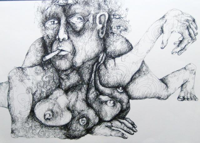 2012-Zeichnung-Sex-12-brueste-rauchen-liegen-Luisa-Pohlmann-Kunst-Berlin