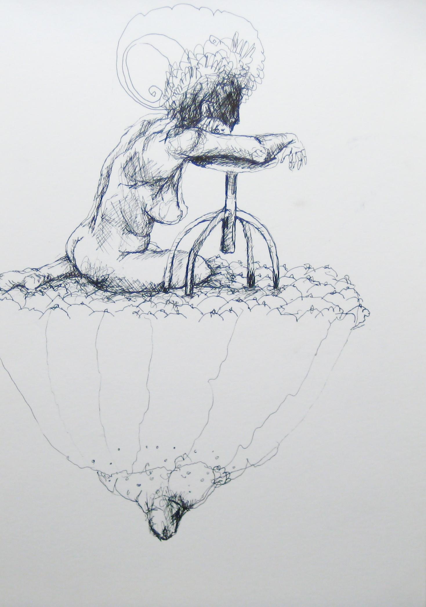 2012-Zeichnung-Sex-16-brust-nachdenklich-nackt-Luisa-Pohlmann-Kunst-Berlin