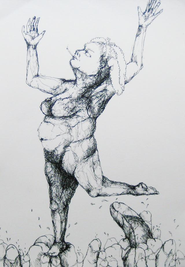 2012-Zeichnung-Sex-2-frau-rauchen-penis-nackt-Luisa-Pohlmann-Kunst-Berlin