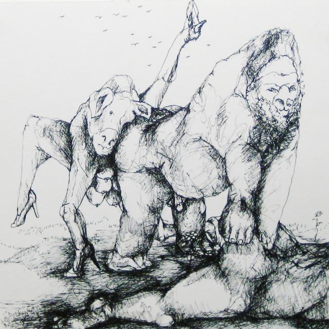 2012-Zeichnung-Sex-21-nackt-rammeln-besteigen-Luisa-Pohlmann-Kunst-Berlin