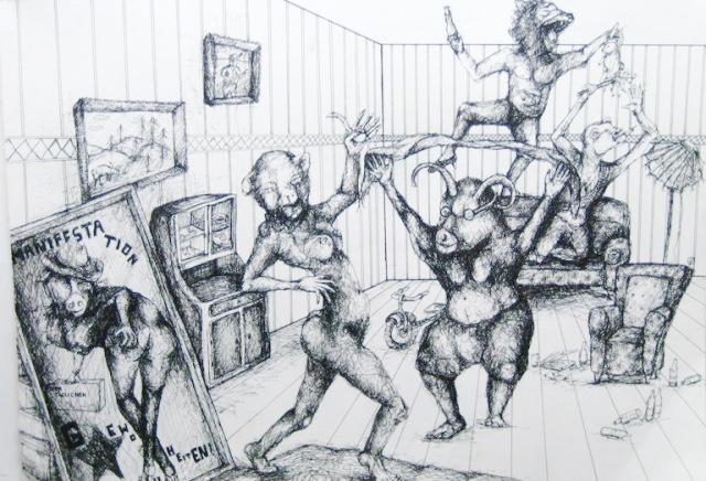 2012-Zeichnung-Sex-29-spaß-nackt-tanzen-party-Luisa-Pohlmann-Kunst-Berlin
