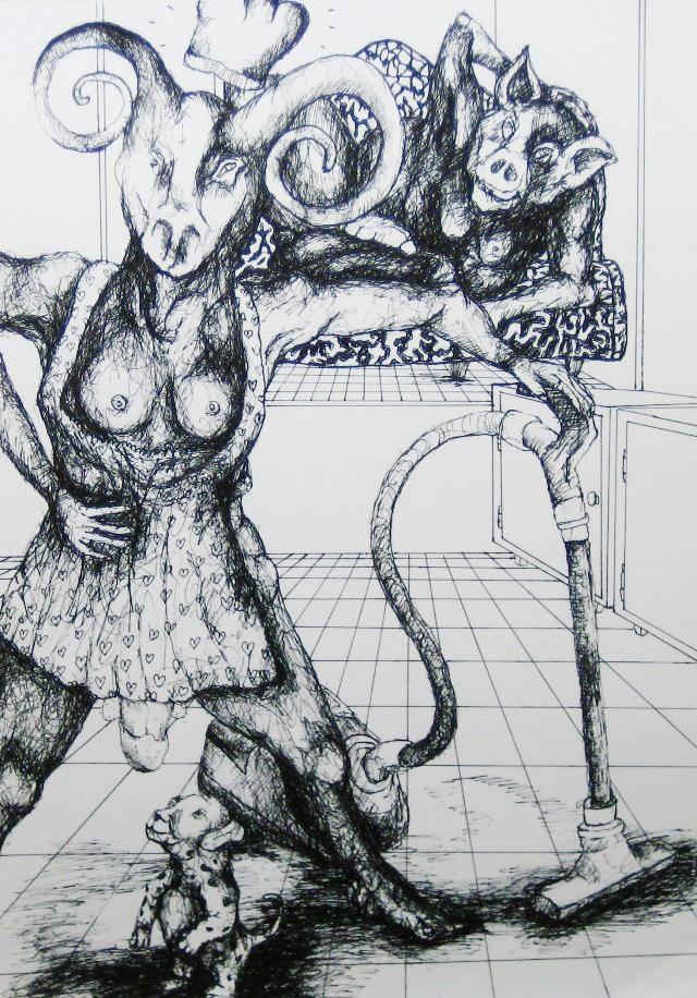 2012-Zeichnung-Sex-4-horny-staubsauger-hund-Luisa-Pohlmann-Kunst-Berlin