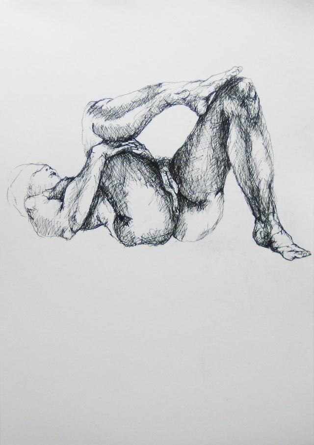 2012-Zeichnung-Sex-50-akt-frau-augenbinde-Luisa-Pohlmann-Kunst-Berlin