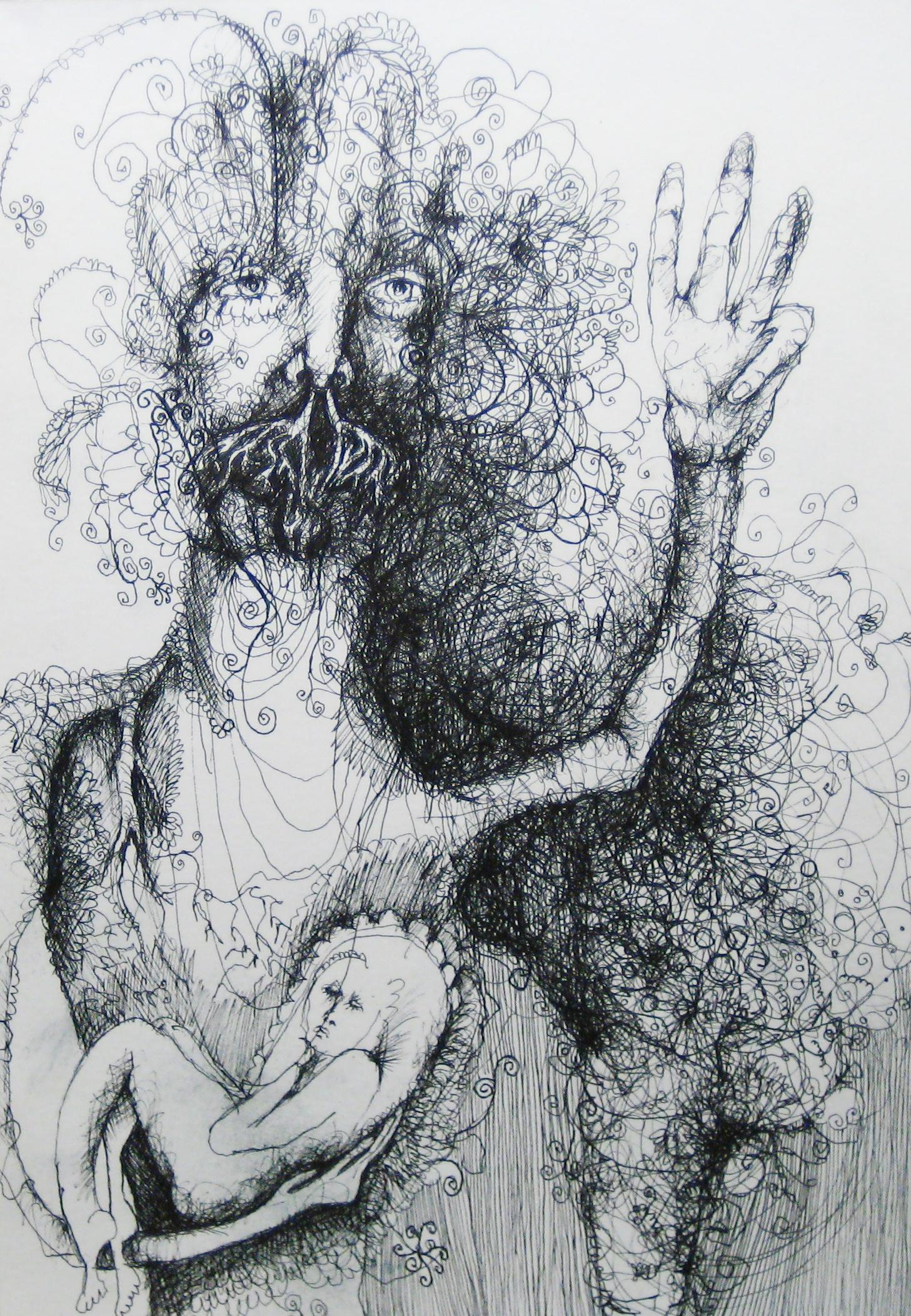 2012-Zeichnung-Sex-52-baby-schwanger-peace-Luisa-Pohlmann-Kunst-Berlin