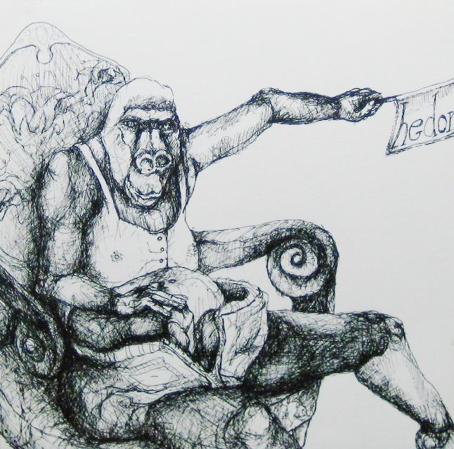 2012-Zeichnung-Sex-6-affe-hedonist-Luisa-Pohlmann-Kunst-Berlin