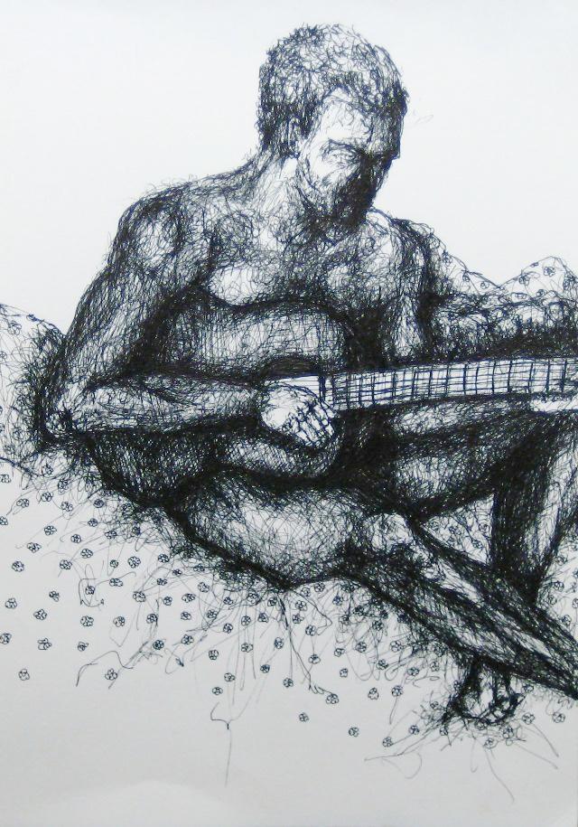 2012-Zeichnung-Sex-7-gitarre-nackt-mann-Luisa-Pohlmann-Kunst-Berlin