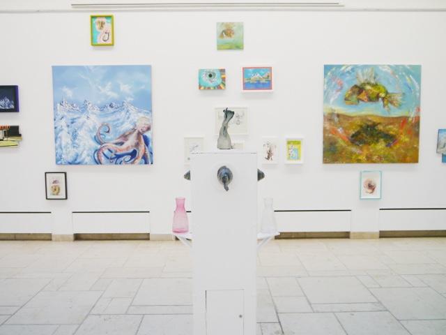 2013-Ausstellung-Freiheit-1-Brunnen-Fisch-Krake-Luisa-Pohlmann-Kunst-Berlin