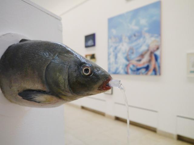 2013-Ausstellung-Freiheit-10-Brunnen-Fisch-Krake-Luisa-Pohlmann-Kunst-Berlin