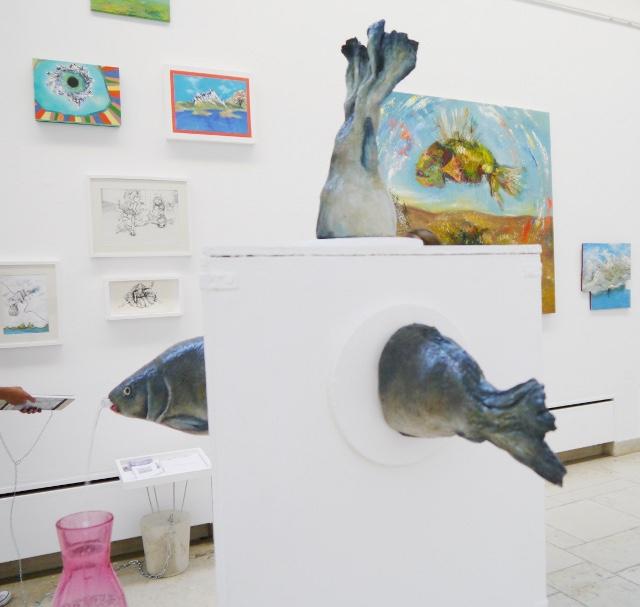 2013-Ausstellung-Freiheit-3-Brunnen-Fisch-Krake-Luisa-Pohlmann-Kunst-Berlin