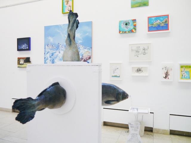 2013-Ausstellung-Freiheit-5-Brunnen-Fisch-Krake-Luisa-Pohlmann-Kunst-Berlin