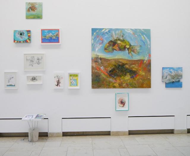 2013-Ausstellung-Freiheit-6-Brunnen-Fisch-Krake-Luisa-Pohlmann-Kunst-Berlin