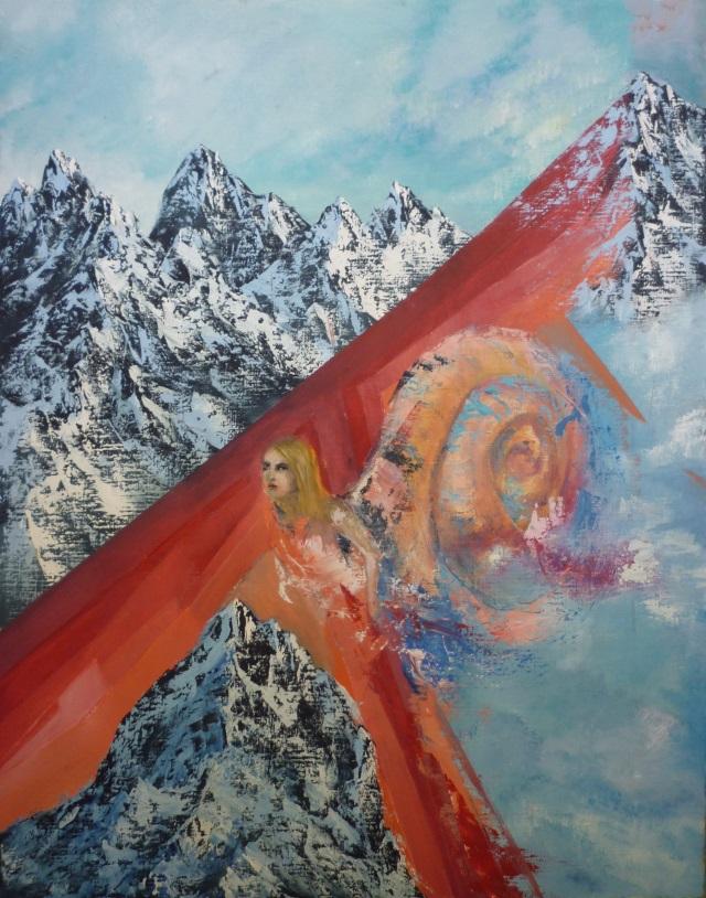 2013-Malerei-Freiheit-8-schnee-berge-schnecke-Luisa-Pohlmann-Kunst-Berlin