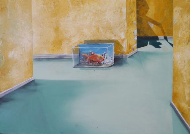 2013-Malerei-Freiheit-9-aquarium-fisch-raum-Luisa-Pohlmann-Kunst-Berlin