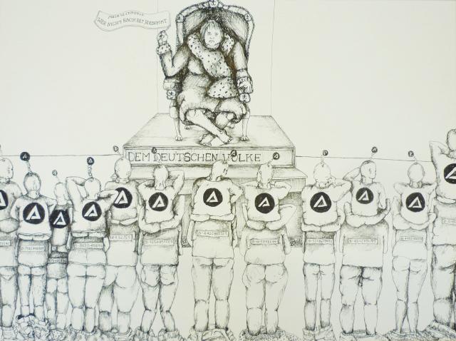 2013-Zeichnung-Freiheit-10-agentur-für-arbeit-angela-merkel-Luisa-Pohlmann-Kunst-Berlin