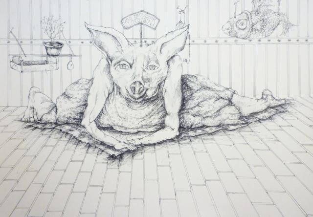 2013-Zeichnung-Freiheit-20-Unsinn-vogel-reh-Luisa-Pohlmann-Kunst-Berlin