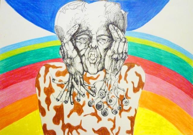 2013-Zeichnung-Freiheit-22-rauchen-zu-viel-regenbogen-gehirn-Luisa-Pohlmann-Kunst-Berlin