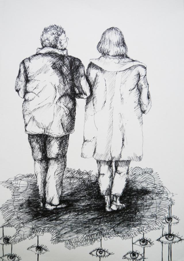 2013-Zeichnung-Freiheit-30-paar-vertrauen-alt-Luisa-Pohlmann-Kunst-Berlin