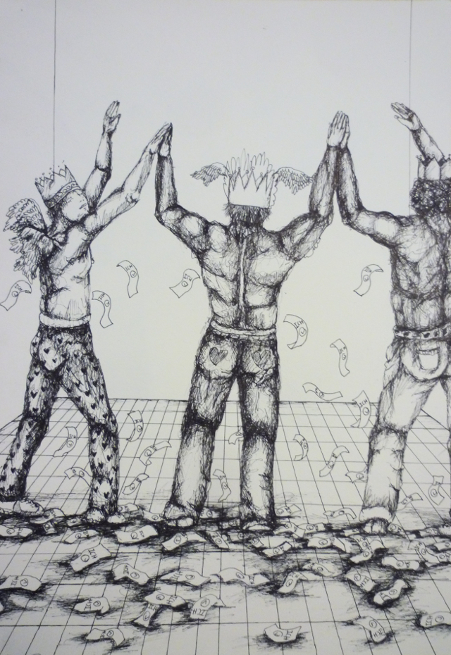 2013-Zeichnung-Freiheit-34-geld-nackte-männer-Luisa-Pohlmann-Kunst-Berlin