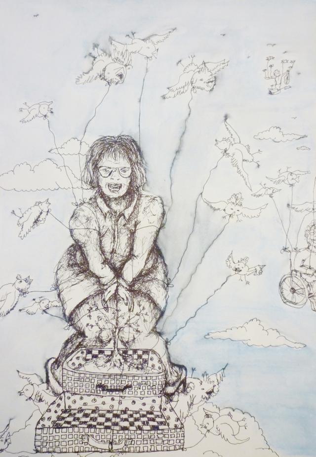 2013-Zeichnung-Freiheit-35-koffer-fliegen-vögel--Luisa-Pohlmann-Kunst-Berlin