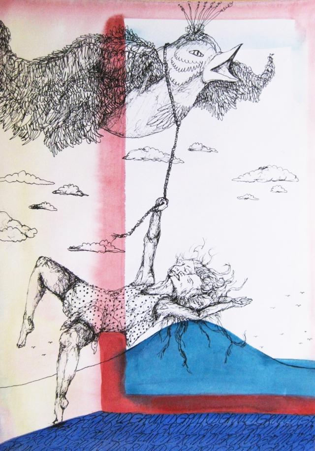 2013-Zeichnung-Freiheit-5-fliegen-vogel-Luisa-Pohlmann-Kunst-Berlin
