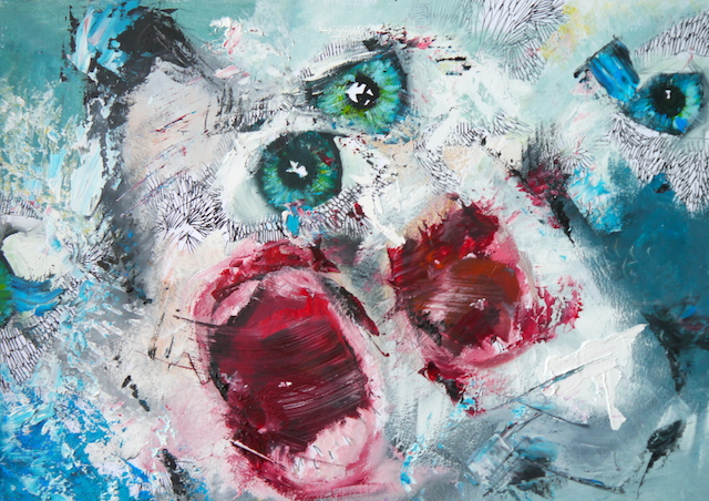 2014-Malerei-Kosmos-12-hai-augen-mund-meer-Luisa-Pohlmann-Kunst-Berlin