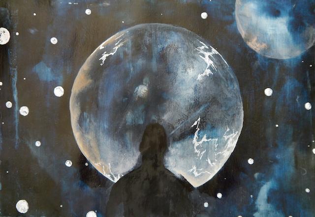 2014-Malerei-Kosmos-14-universum-mann-mond-Luisa-Pohlmann-Kunst-Berlin