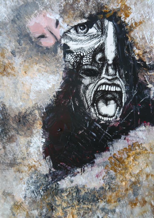 2014-Malerei-Kosmos-15-hamster-mund-essen-Luisa-Pohlmann-Kunst-Berlin