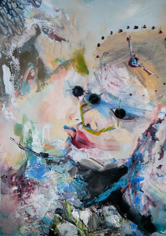 2014-Malerei-Kosmos-22-kuss-zeit-Luisa-Pohlmann-Kunst-Berlin