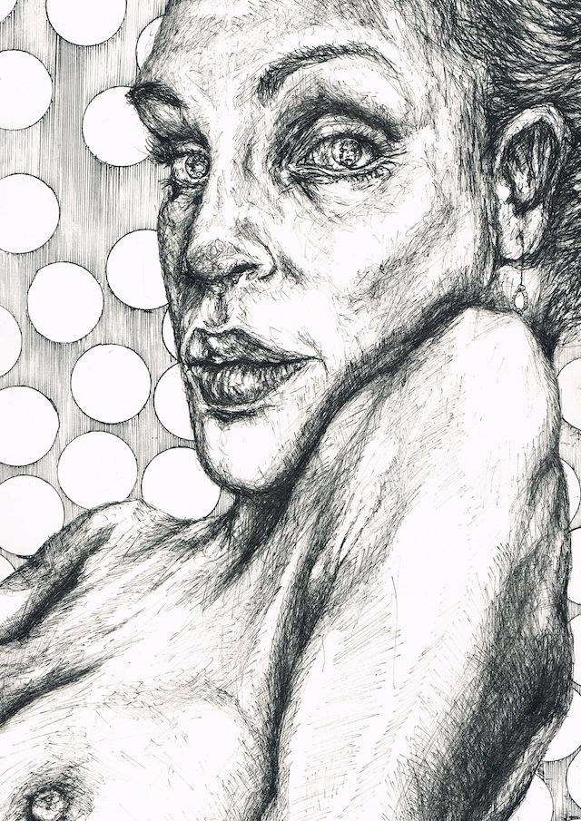 2014-Zeichnung-Kosmos-12-frau-blick-nackt-brust-Luisa-Pohlmann-Kunst-Berlin