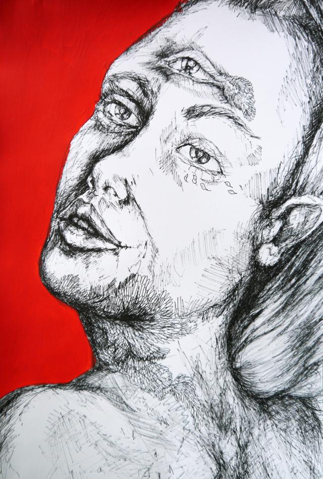 2014-Zeichnung-Kosmos-24-drittes-auge-Luisa-Pohlmann-Kunst-Berlin