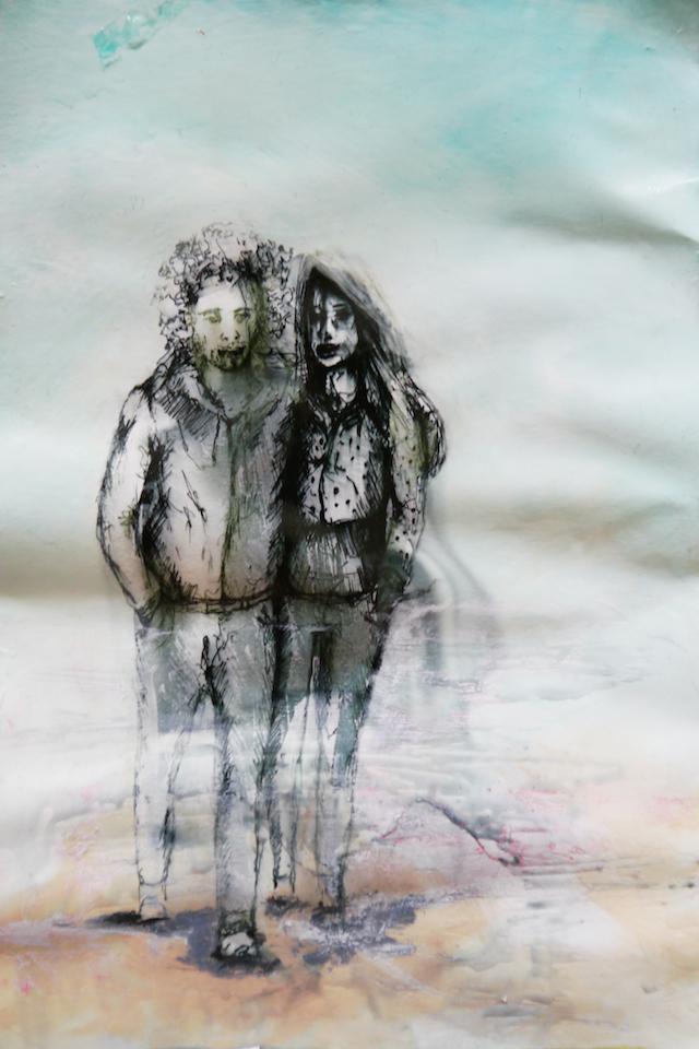 2014-Zeichnung-Kosmos-34-freunde-paar-Luisa-Pohlmann-Kunst-Berlin