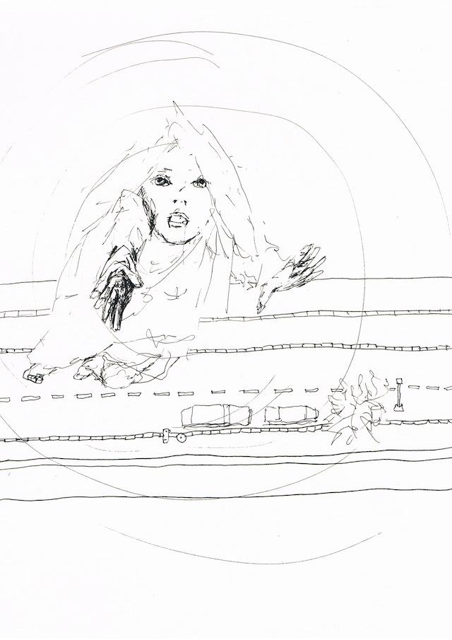 2014-Zeichnung-Kosmos-35-fallen-absturz-Luisa-Pohlmann-Kunst-Berlin