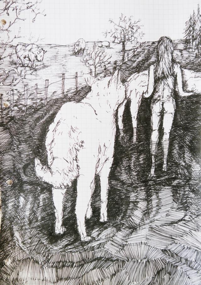 2014-Zeichnung-Kosmos-42-opfer-wolf-Luisa-Pohlmann-Kunst-Berlin