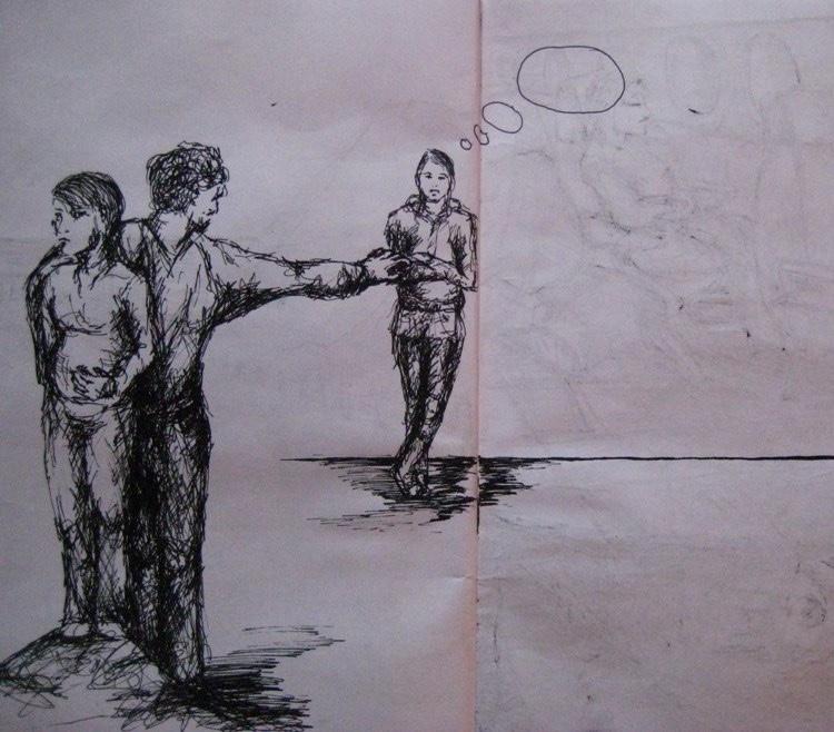 Skizzenbuch-2-Von einer die auszog,  das Fürchten zu lernen - Luisa - Pohlmann - Künstlerin - Berlin