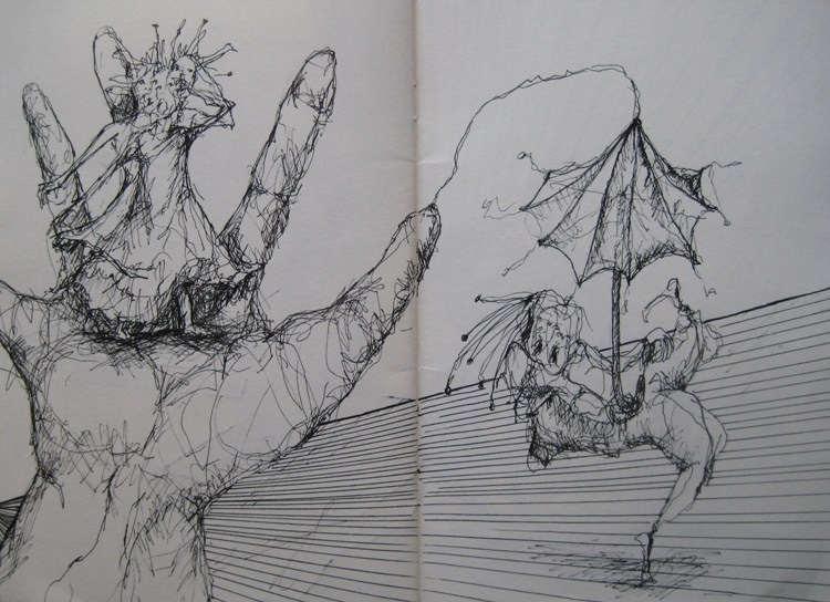 Skizzenbuch-Schmerzlich-2010-Luisa-Pohlmann-Künstlerin-Berlin