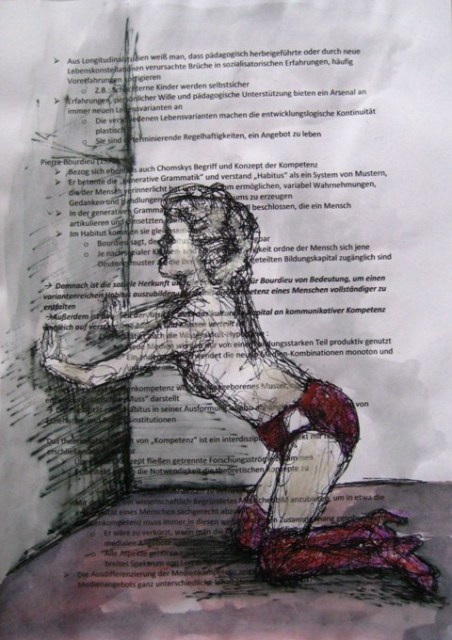 2008-Zeichnung-Farbe-7-Nutte-rote-Unterwäsche-Luisa-Pohlmann-Kunst-Berlin