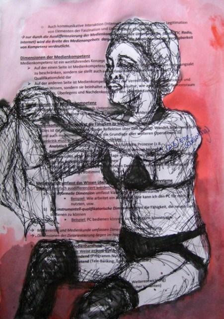 2008-Zeichnung-Farbe-8-Nutte-schwarze-Unterwäsche-Luisa-Pohlmann-Kunst-Berlin