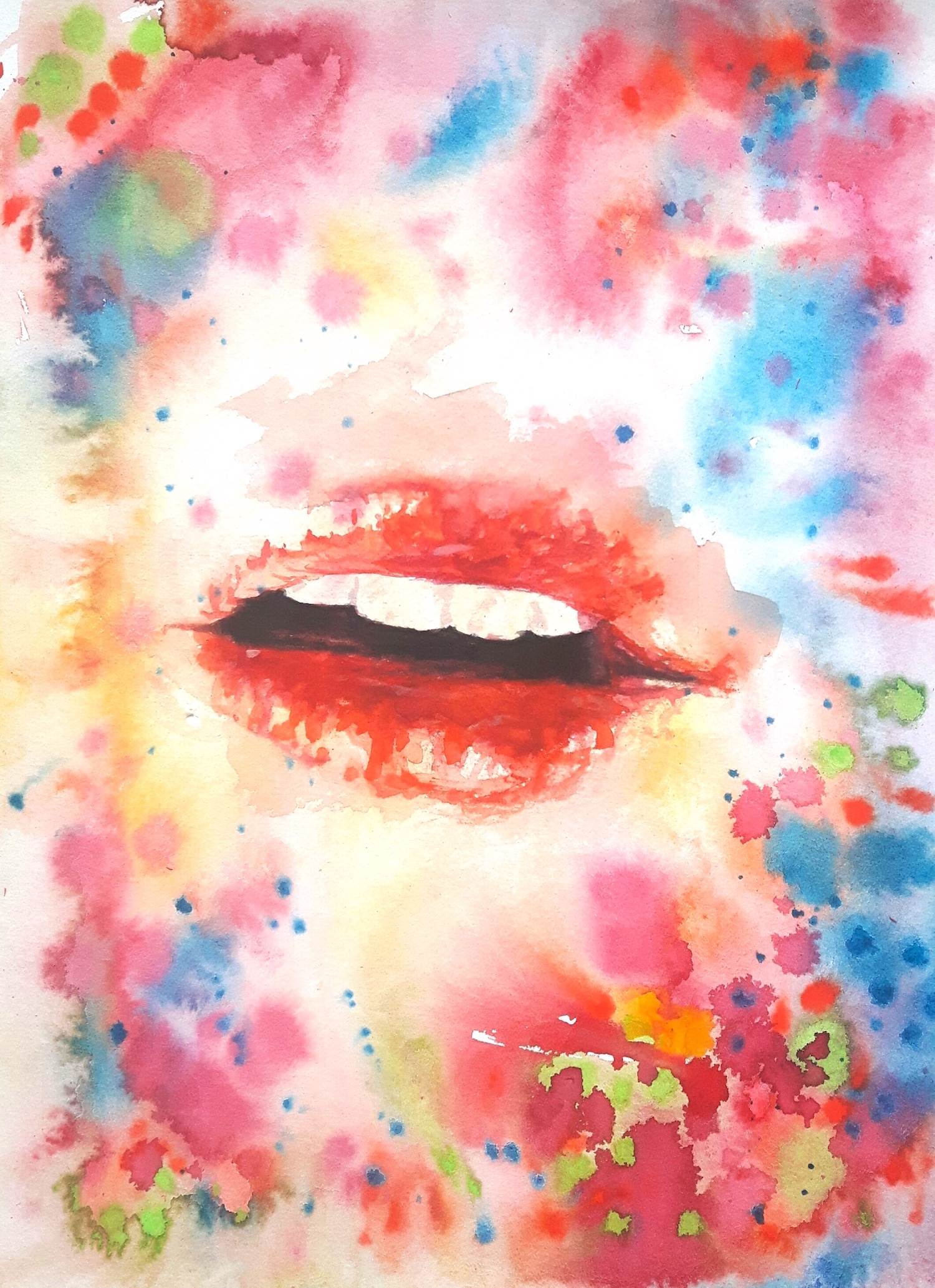 painting art space watercolor geometry geometrie aquarell cosmos cosmic malerei universe universum formen colorful silence aesthetic  kunst mouth