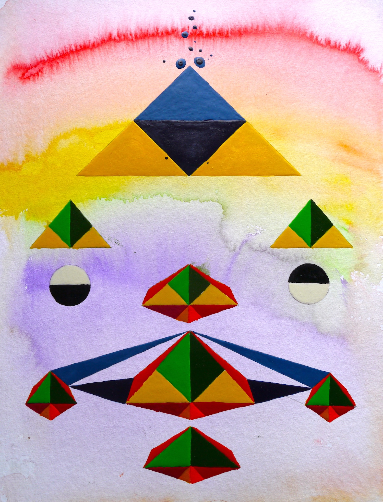 painting art space watercolor geometry geometrie aquarell cosmos cosmic malerei universe universum formen colorful silence aesthetic  kunst