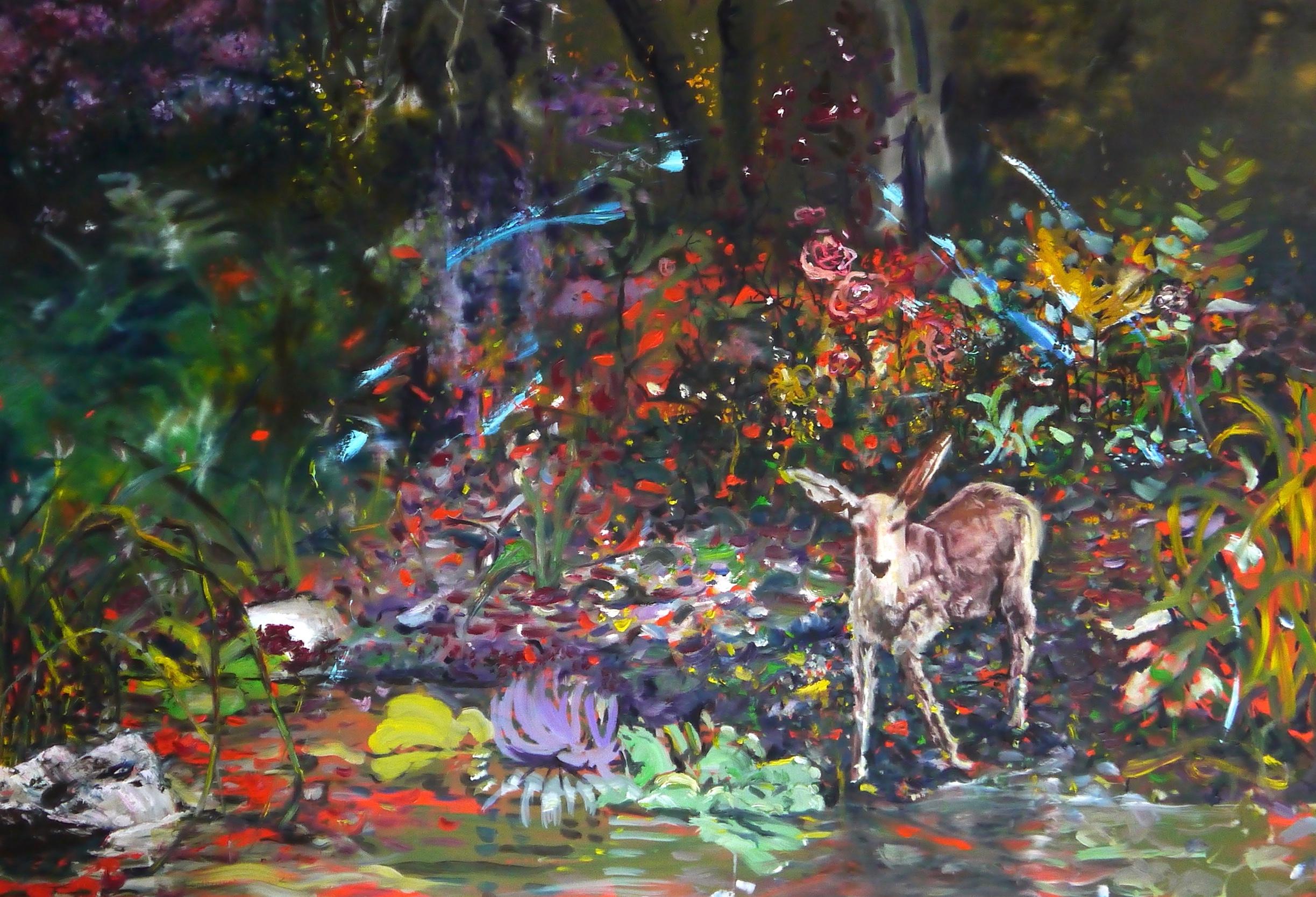 painting paradise malerei paradies reh deer seele seelenraum soul soulfood
